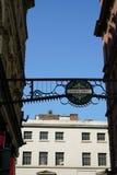 Liverpool, Reino Unido 25 de maio de 2017: Sinal na rua de Mathew em Liverpool Fotos de Stock Royalty Free
