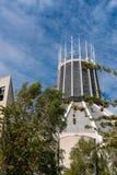 LIVERPOOL, REINO UNIDO, EL 26 DE MAYO DE 2019: Una visi?n que documenta el exterior de la catedral metropolitana de Cristo el rey foto de archivo libre de regalías