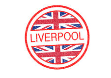 LIVERPOOL Rubber Stamp Royalty Free Stock Photo
