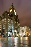 Liverpool's Historic Waterfront Buildings Royalty Free Stock Image