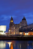 Liverpool's Historic Waterfront Buildings Stock Photo
