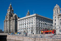 Liverpool's World Heritage waterfront buildings Royalty Free Stock Photography
