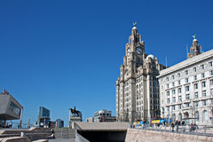 Liverpool's World Heritage waterfront buildings Stock Images