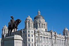 Liverpool's World Heritage waterfront buildings Royalty Free Stock Photo