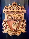 Liverpool schnitzte Zeichen Stockbild