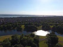 Liverpool Sefton parkerar sjön fotografering för bildbyråer