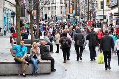 Liverpool shopping area royalty free stock photo