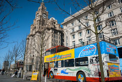Liverpool Sightseeing Bus Royalty Free Stock Photos
