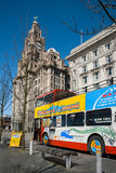 Liverpool Sightseeing Bus Stock Image