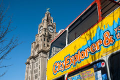 Liverpool Sightseeing Bus Royalty Free Stock Photo