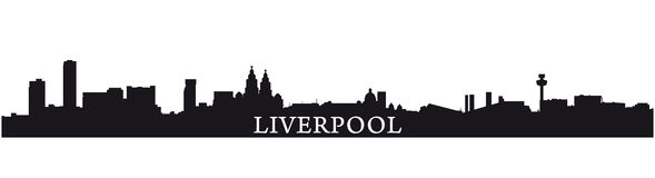 Liverpool silhouette Stock Photo