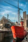 Liverpool skeppsdockakonstruktion Arkivbilder