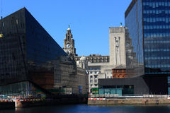 Liverpool skyline. Royalty Free Stock Images