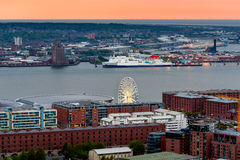 Liverpool Skyline England UK royalty free stock images