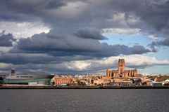 Liverpool Skyline and Waterfromt Stock Image