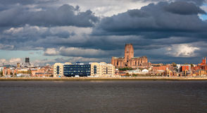 Liverpool Skyline and Waterfromt Stock Images