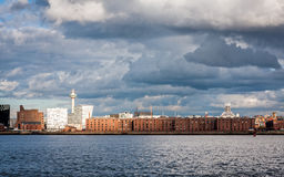 Liverpool Skyline and Waterfromt Royalty Free Stock Photos