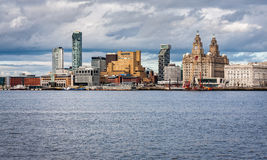 Liverpool Skyline and Waterfromt Royalty Free Stock Photo