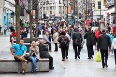 Liverpool som shoppar område Royaltyfri Foto
