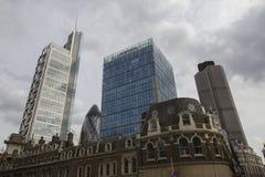 Liverpool St Londyn linia horyzontu Fotografia Royalty Free