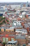 Liverpool-Stadtzentrum - Antenne lizenzfreies stockfoto
