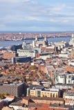 Liverpool-Stadtzentrum - Antenne Lizenzfreie Stockbilder