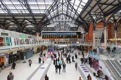 Liverpool station London Fotografering för Bildbyråer