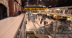 liverpool stationsgata arkivfoto