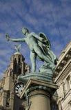 liverpool statyer fotografering för bildbyråer