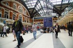 Liverpool-Straßenstation Stockbilder