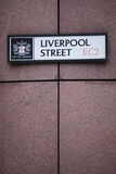 Liverpool Street Royalty Free Stock Photos