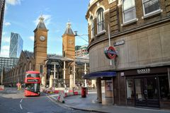 Liverpool  Street railway  underground station London Stock Image