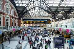Liverpool Street station - inside view Stock Photography
