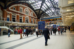 Liverpool street station Royalty Free Stock Photography