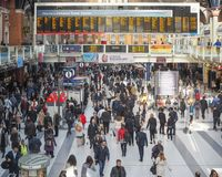 Liverpool Street station in London Royalty Free Stock Photo