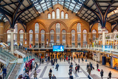 Liverpool Street station in London. Stock Photos
