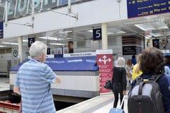 Liverpool street station, London United Kingdom, 14 June 2018 royalty free stock image