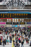 Liverpool street train station with lots of people. London Stock Photography