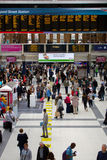 Liverpool street train station with lots of people. London Stock Photo