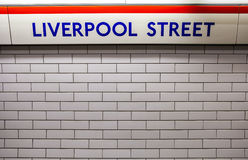 Liverpool Street Underground Station Royalty Free Stock Images