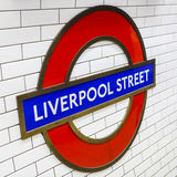 Liverpool Street Underground Station Royalty Free Stock Photography
