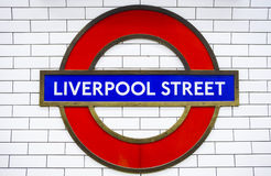 Liverpool Street Underground Station Royalty Free Stock Photos