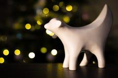 Liverpool Superlambanana avec des lumières d'arbre de Noël Photos stock