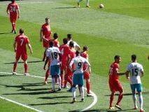 Liverpool tegenover verenigd Newcastle Stock Fotografie