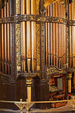 LIVERPOOL 25TH JANUARY 2016 organ inside St Georges Hall. The organ was built by Henry Willis and completed in 1855 Stock Photo