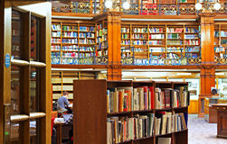 LIVERPOOL 16TH JANUARY 2016. Picton Reading Room inside Liverpoo Stock Image