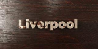 Liverpool - titolo di legno grungy sull'acero - 3D ha reso l'immagine di riserva libera della sovranità Fotografia Stock