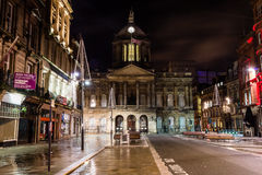 Liverpool Town Hall by night. ENGLAND, LIVERPOOL - 15 NOV 2015: Liverpool Town Hall by night stock photography
