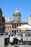 Liverpool town hall and pavement cafe. Stock Photography