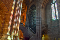 Liverpool, UK - 03 April 2015 - Interior view of Liverpool Cathedral Stock Photography